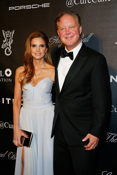 NASCAR chairman and chief executive Brian France and his wife Amy France were honoured at the Angel Ball hosted by Gabrielle's Angel Foundation for their contributions to pediatric cancer research