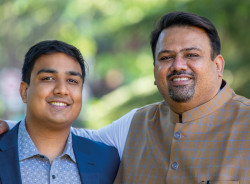 Cousins Herschel Mehta ,29, (left) is based in the US and Sanjay Mehta, 49, In India, but they operate as a tight-knit team despite the physical separation.